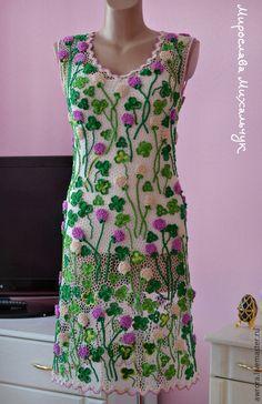 """Платья ручной работы. Заказать Платье """"Клевер"""". Мирослава. Ярмарка Мастеров. Ирландское кружево"""