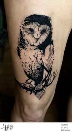 I'd prefer this if it wasn't quite so dark - if it was most sketchy, less block color Katarzyna Krutak - Owl for Monika