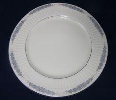Flintridge China Crissy Rose Pattern Dinner Plate Cream Platinum Flowers   eBay