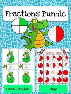 Fractions Bundle product from Jasons-Classroom on TeachersNotebook.com
