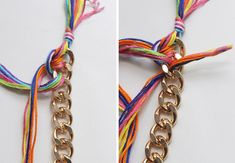 Bricolage Double Emballage B DIY Double-Wrapped Braided Chain Bracelet Bracelets Diy, Braided Bracelets, Friendship Jewelry, Diy Braids, Baubles And Beads, Wire Crafts, Jewelry Making Tutorials, Elsa, Chain