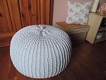 Úžitkový textil - Puf BUDDY biely - 3545084