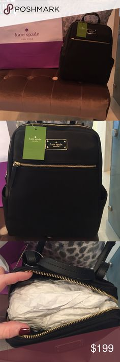 🍁 Kate Spade Backpack! 🍁 Brand New! Kate spade backpack! Medium size about 1 foot by 1 foot! This is neoprene! So cute! kate spade Bags Backpacks