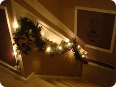 How to swag stairway garland