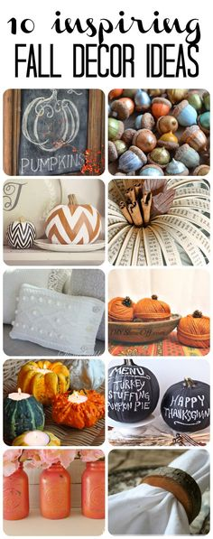 Fall is just around the corner! Check out these 10 fabulous DIY fall decor and fall craft ideas for inspiration of how to bring the beauty of fall into your home!
