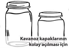 Kavanoz kapaklarının kolay açılması için Water Bottle, Drinks, Food, Drinking, Beverages, Essen, Water Bottles, Drink, Meals