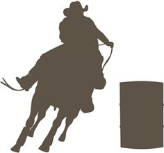 Silhouette Online Store - View Design #12042: rodeo barrel racer