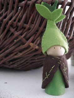 Sprout the peg doll by LittleWool on Etsy, $15.00