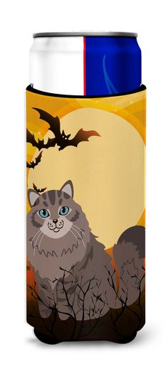 Halloween Siberian Cat Michelob Ultra Hugger for slim cans BB4455MUK