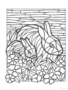 Free Mosaic Patterns to Print Dover Coloring Pages, Puppy Coloring Pages, Adult Coloring Pages, Coloring Sheets, Printable Coloring Pages, Stained Glass Designs, Stained Glass Patterns, Mosaic Crafts, Mosaic Art