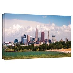 'Cleveland Pano 2' by Cody York Photographic Print on Wrapped Canvas