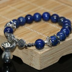 Tibet silver-color accessories charms natural blue lapis lazuli round beads diy women bracelet jewelry making Tibet, Bangle Bracelets, Bangles, Lapis Lazuli Bracelet, Round Beads, Silver Color, Crystal Healing, Jewelry Accessories, Jewelry Making