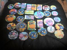 Backyardigans scrapbooking die cuts tags from recycled by amylaugh, $5.95
