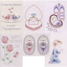 Singles Collection 4: Love in Value Packs patterns at Stitching Cards - ePatterns for paper embroidery