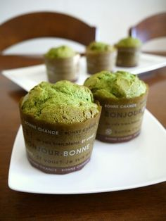 These muffins are made using pancake mix so they're easy and foolproof. The matcha tea flavor is quite strong in these fluffy soft muffins. Recipe Sites, My Recipes, Snack Recipes, Dessert Recipes, Cooking Recipes, Snacks, Desserts, Pancake Batter Mix, Best Matcha Tea
