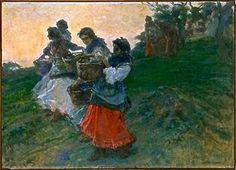 Las Aceituneras es un óleo sobre lienzo (1903-1904) de Julio Romero de Torres. Pertenece al #MuseoNacionalReinaSofía de Madrid #pintura #aceitdeoliva