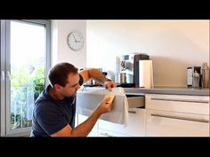 Gluing kitchen cabinets – How to renew old kitchen fronts - Cheap Kitchen Kitchen Counter Diy, Cheap Kitchen Cabinets, Old Kitchen, Kitchen Decor, Kitchen Counters, Custom Cabinet Doors, Armoire Makeover, Diy Countertops, Furniture Restoration