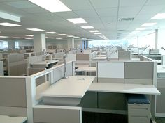 Here's a project where we installed & setup 300 Allsteel workstations over a weekend! If you'd like to speak to a highly experienced, reputable company about office furniture installation, please call The Crew at Office Moving, Weekend Is Over, Office Furniture, Interior, Budget, Home Decor, Frame, Easy, Homemade Home Decor