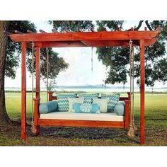 Backyard Swings, Pergola Swing, Backyard Retreat, Backyard Patio, Garden Swings, Porch Swings, Bench Swing, Backyard Ideas, Outdoor Swing Beds