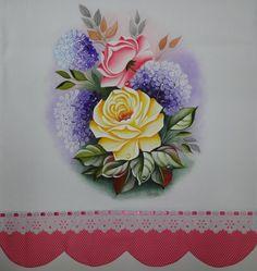 Pintura de rosas, projeto de Ana Laura Rodrigues, pintado por mim. Tânia.