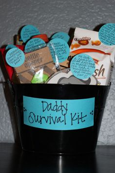 Daddy Survival Kit...not my favorite, but love the goldfish note