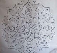 Risultati immagini per adam williamson arabesque Stencil Patterns, Doodle Patterns, Stencil Designs, Pattern Art, Embroidery Patterns, Leather Tooling Patterns, Arabesque Pattern, Islamic Patterns, Turkish Art