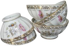 French Vintage Porcelain Cafe Au Lait Bowls | Omero Home