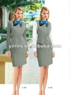 #flight attendant suit uniform , #female skirts suits, #classic skirt suits