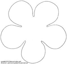 Rounded Five-Petal Sketch