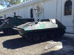 A weird military vehicle on display, I rally don't know what purpose it served in the El Salvadoran Army...