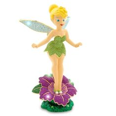Soar to the Second Star to the Right with this stellar Tinker Bell figurine! Crafted in enamelled metal and set with sparkling Swarovski crystal stones, she's simply pixie-dusted to perfection!