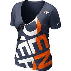 Denver Broncos V-Neck T-Shirt