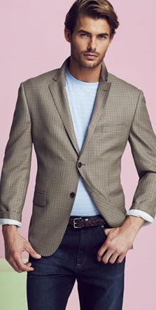 Image of VINTAGE Glen Plaid Blazer | Men's Sport Coats & Jeans ...