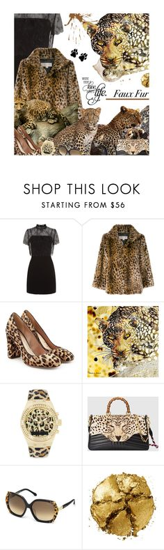 """An Occasional Faux Pas Is Insignificant, Real Paws Matter"" by sharee64 ❤ liked on Polyvore featuring Sandro, MICHAEL Michael Kors, Sam Edelman, GUESS, Gucci, Roberto Cavalli and Pat McGrath"