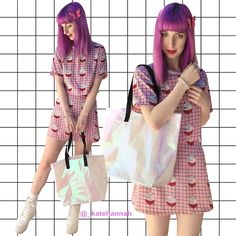 Cheep 'Milk' Top, Cheep 'Milk' Skirt, Maude Studio Shopper Bag (White Fairy Floss), Yru Qozmo Platforms