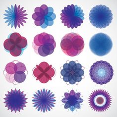 Geometric Shapes Vector Graphic — colorful, complex, circle