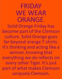 We wear ORANGE!