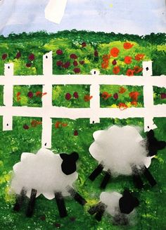 sheep in the field - grade 1