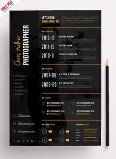 Photographer Resume Cv Psd Template Psdfreebies Photography Resume Templates, Gallery Photographer Resume Cv Psd Template Psdfreebies Photography Resume Templates with total of image about 29766 at Best Resume and CV Inspiration Resume Design Template, Cv Template, Resume Templates, Design Resume, Photographer Resume, Cv Curriculum, Pc Photo, Creative Cv, Cv Design