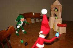 "An elf ""Angry Bird"" game An Elf, Shelf Ideas, Elf On The Shelf, Bird, Game, Holiday Decor, Home Decor, Decoration Home, Room Decor"