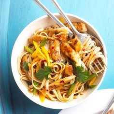BH quick & easy pasta dishes, including this Sesame Chicken with Noodles.