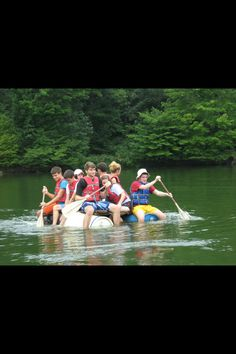 Raft building with the Kelley Scholars. Raft Building, Indiana University, Rafting
