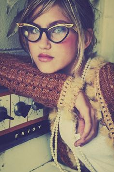 cat-eye glasses