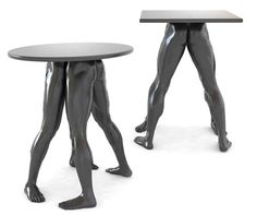 Haha gotta admit it's a little creepy :-) Human Furniture Collection by Dzmitry Samal Unusual Furniture, Black Furniture, Funky Furniture, Recycled Furniture, Furniture Making, Painted Furniture, Furniture Design, Mannequin Art, Furniture Collection