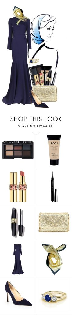 """Untitled #257"" by lo2lo2a ❤ liked on Polyvore featuring NARS Cosmetics, NYX, Yves Saint Laurent, Marc Jacobs, Max Factor, Kate Spade, Roland Mouret, Hellen Van Rees, Manolo Blahnik and Salavetti"