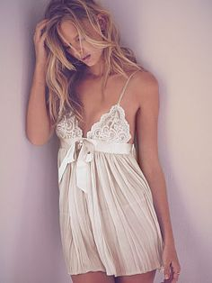 Wedding Bridal Lingerie // Bridal Underwear // Pleated Babydoll