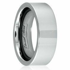 SENUS III 8mm Tungsten Carbide Flat Polished Finish Wedding Band Ring (Size 4-15) Eternal Bond. $29.95