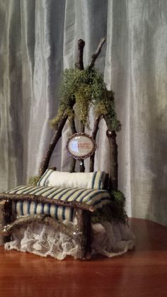 Rustic Love Handmade Fairy Bed by maryfontones on Etsy, $33.00