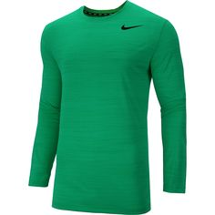 The Nike® men's Dri-FIT® Touch long-sleeve t-shirt features lightweight, sweat-wicking fabric and ergonomic seams for high-tech comfort and a full range of motion. Its ribbed crew neck with interior taping ensures durability.
