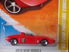 Hot Wheels 2010 28/240 New Models 28/44 '62 Ford Mustang Concept (Red and Black) 1:64 Scale by Mattel. $5.00. Red with black stripe. 1:64 Scale Die Cast Car. 2010 New Models #44 of 44. 1:64 scale of a 1962 Ford Mustang in die cast metal